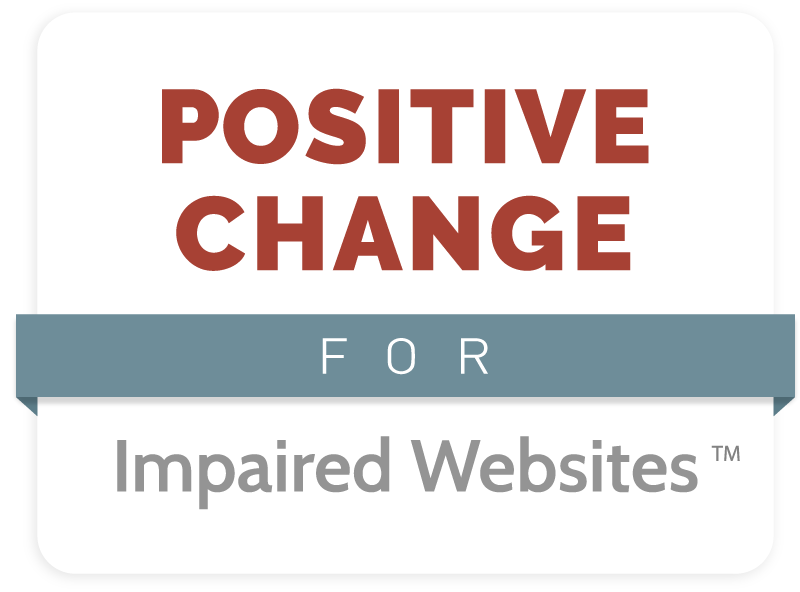 Positive Changes for Impaired Websites